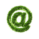 Email grass symbol Royalty Free Stock Images