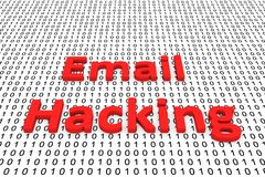 Email hacking. In the form of binary code, 3D illustration Stock Photos