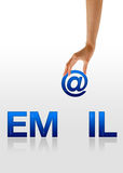 Email - Hand Royalty Free Stock Photos
