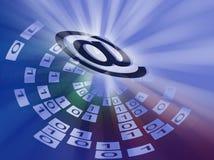 EMail-Hintergrund Lizenzfreie Stockfotos
