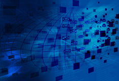 EMail-Hintergrund Lizenzfreie Stockbilder