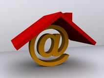 Email home Stock Photography