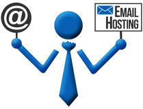 Email Hosting Human Icon Stock Images