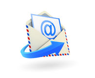 Email icon. Email envelope on white background. Computer generated image royalty free illustration