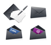 Email icon. S isolated on white Royalty Free Stock Images