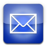 EMail icon blue. EMail icon isolated on a white background Stock Photography
