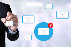 Email icon Concept.  Stock Photo