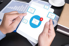 Email icon Concept.  Stock Images
