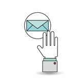 Email with  icon design Stock Photography