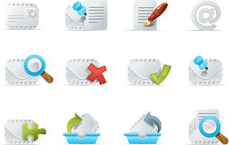 Email icon - Emailo set 3 Stock Photography