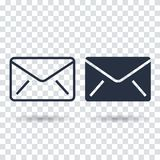Email icon Flat. Outline email icon Royalty Free Stock Image