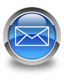 Email icon glossy blue round button Stock Photos