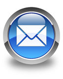 Email icon glossy blue round button Royalty Free Stock Images