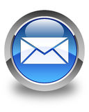 Email icon glossy blue round button Stock Images