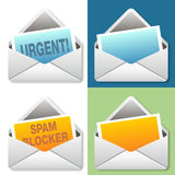Email Icon Message Set Stock Photography