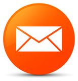 Email icon orange round button. Email icon isolated on orange round button abstract illustration Royalty Free Stock Photo
