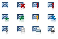 Email icon set Stock Images