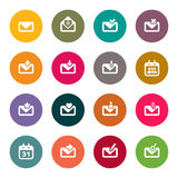 Email icon set. color.  Royalty Free Stock Images
