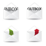 Email Icon Set. Inbox and outbox icon set Royalty Free Stock Photo
