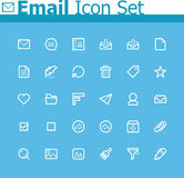 Email icon set Stock Photo