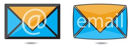 Email icon set Stock Image