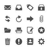 Email Icon Set, Vector Eps10 Stock Image