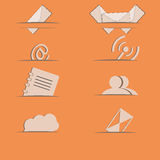 Email icon sites Stock Images