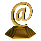 Email icon statue Royalty Free Stock Image