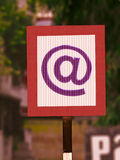 Email icon, at symbol Stock Image