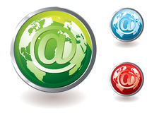 Email icon world concept Royalty Free Stock Photo