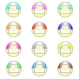 Email icons Stock Photo