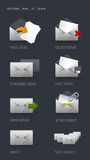 Email Icons. Vector Email Icons Set for internet and web. GH ICONS SERIES Stock Photo