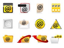 Email icons Royalty Free Stock Photography