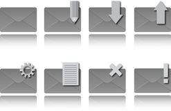 Email icons. With reflections. Vector illustration Stock Image
