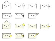 Email Icons Royalty Free Stock Images