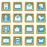 Email icons azure Royalty Free Stock Images