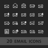 Email icons Royalty Free Stock Image