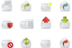 Email Icons - Emailo set 1 Royalty Free Stock Image