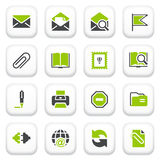 Email icons. Green gray series. Royalty Free Stock Photo