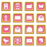 Email icons pink Stock Photos