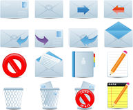 Email icons set Stock Images