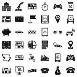 Email icons set, simple style Stock Image