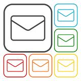 Email icons set. Simple vector icon Royalty Free Stock Photo