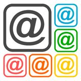 Email icons set Royalty Free Stock Photography