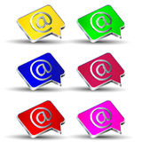Email At icons set Royalty Free Stock Image