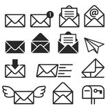 Email icons. Vector illustrations. Stock Photography