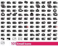 101 Email Icons Vector illustrator Stock Image