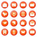Email icons vector set Royalty Free Stock Images