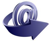 email ikona Obrazy Stock