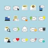 EMail-Ikonen stellten ein Lizenzfreie Stockfotos